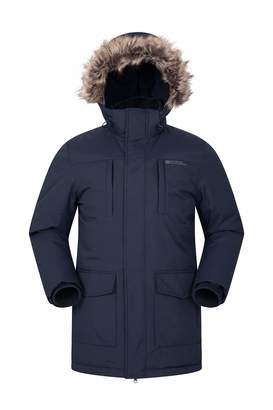 Warehouse Mountain Mens Long Parka Jacket - Warm Winter Coat