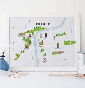 Pepper Pot Studios Map Of Prague Print