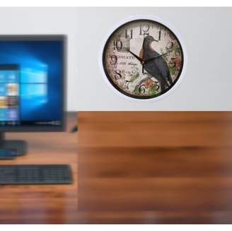 """Creative Motion Beautiful Bird Clock. Sturdy Plastic frame with 10"""" Bird Clock in White Frame;Product Size: 10x 10 x1.5. Accent any room, office, dorm, shop. Conversational piece"""