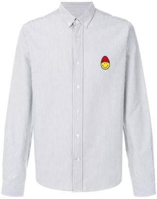 Ami Alexandre Mattiussi Button-Down Smiley Patch Shirt