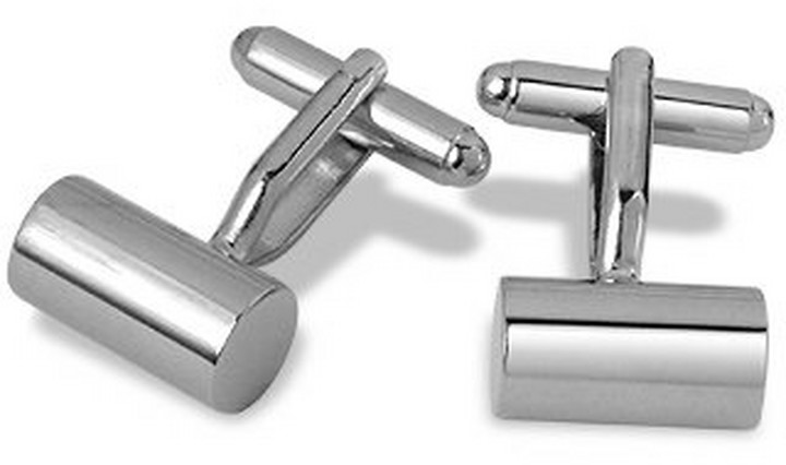 Forzieri Pitti - Silver Plated Cylinder Cuff Links