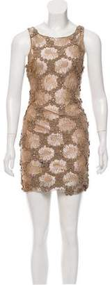 Alice + Olivia Brocade Embellished Dress