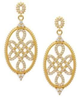 Freida Rothman 14K Goldplated Sterling SIlver Signet Love Knot Earrings