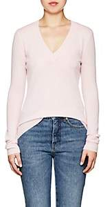 Barneys New York WOMEN'S CASHMERE V-NECK SWEATER - MD. PINK SIZE S