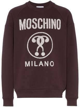 Moschino Logo printed cotton jumper