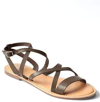 Cross-strap sandals $44.95 thestylecure.com