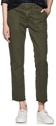 Nili Lotan Women's Jenna Cotton Twill Crop Pants - Loden