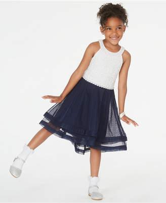 Speechless Toddler Girls Contrast Glitter Lace Dress