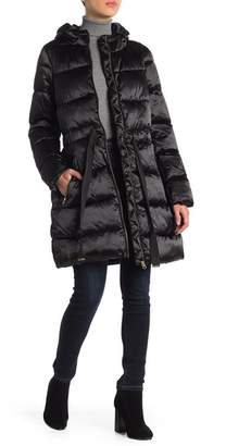 Jessica Simpson Faux Fur Trimmed Hooded Jacket