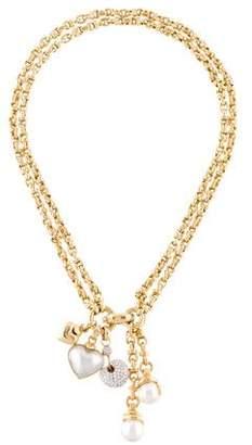Leo Pizzo 18K Pearl & Diamond Lavalier Necklace