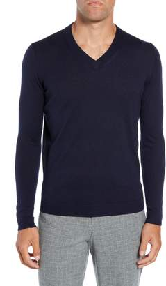 Ted Baker Noel Slim Fit V-Neck Wool Blend Sweater
