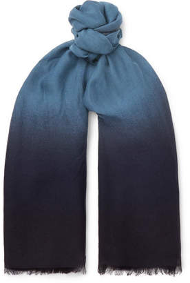 Bottega Veneta Degrade Wool Scarf - Navy