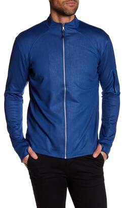 Robert Graham Long Sleeve Stretch Zip Down Athletic Bomber Jacket