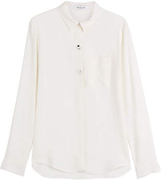 Thierry Mugler Cady Blouse with Embellished Buttons