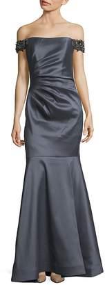 Badgley Mischka Women's Off-The-Shoulder Mermaid Gown