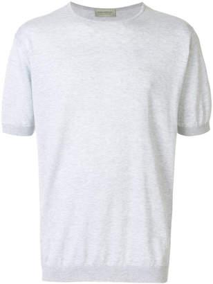 John Smedley marl effect T-shirt