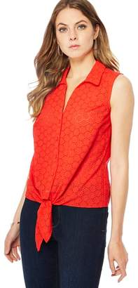 Principles Red Broderie Anglaise Sleeveless Shirt