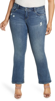 SLINK Jeans Distressed Bootcut Jeans