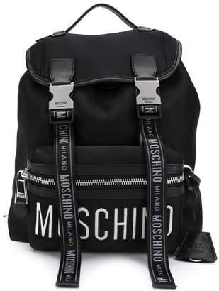 29449f9fc0de Moschino logo straps backpack