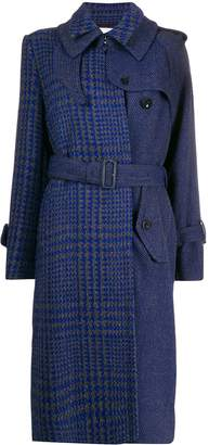 Sacai houndstooth panelled coat