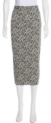Torn By Ronny Kobo Patterned Midi Skirt w/ Tags