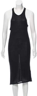 Alexander Wang Semi-Sheer Sleeveless Midi Dress