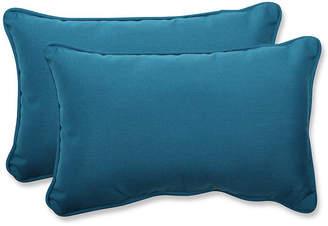 Spectrum Peacock Rectangular Throw Pillow, Set of 2
