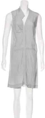 Cushnie et Ochs Striped Knee Length Dress