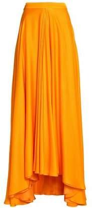 Lanvin Draped Silk Maxi Skirt