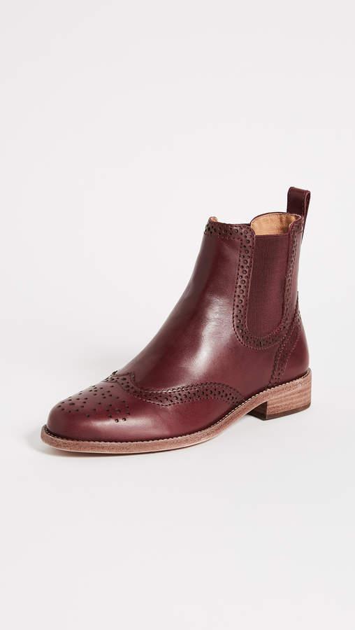 Madewell Chelsea Brogue Boots