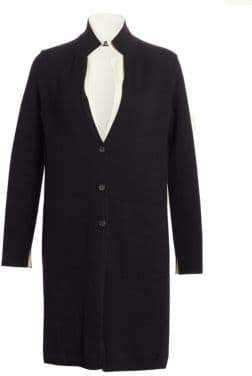 Akris Bi-Color Double Layer Cashmere Knit Coat