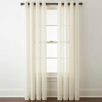 JCPenney JCP HOME Home Batiste Grommet-Top Sheer Curtain Panel