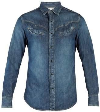 Saint Laurent Western Denim Shirt - Mens - Blue