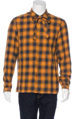 Gucci 2016 Wool Plaid Flannel Shirt w/ Tags