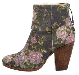 Rag & Bone Newbury Floral Ankle Boots