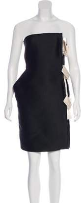 Lanvin Bow-Accented Strapless Dress Black Bow-Accented Strapless Dress