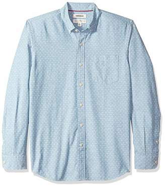 Goodthreads Men's Standard-Fit Long-Sleeve Polka Dot Chambray Shirt