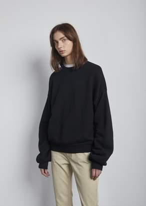 R 13 Pleated Sleeve Sweatshirt