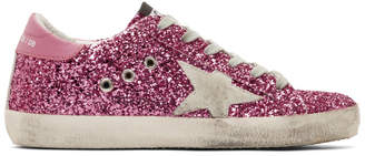 Golden Goose Pink Glitter Superstar Sneakers
