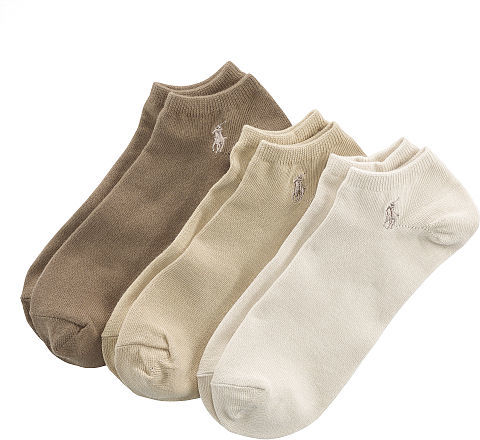 Polo Ralph Lauren Cotton No-Show Sock 3-Pack