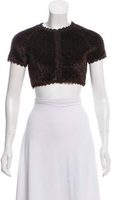 Alaia Short Sleeve Textured Shrug