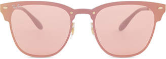 Ray-Ban Ladies Pink and Gold Modern Rb3576 Square-Frame Sunglasses