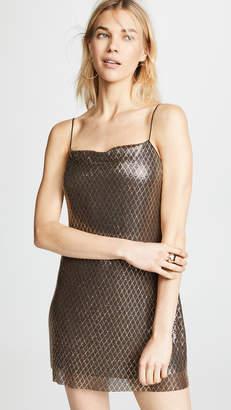 5f896b33cf576 Alice + Olivia Harmony Chainmail Mini Slip Dress