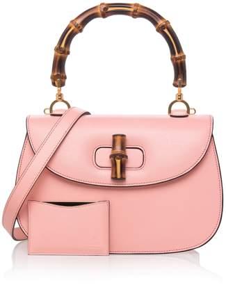 Gucci Bamboo Classic Textured Shoulder Bag