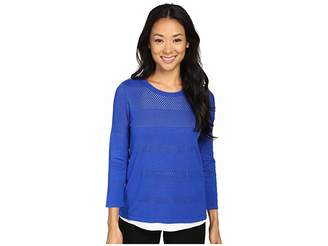 Calvin Klein Perforated Sweater Twofer Women's Sweater