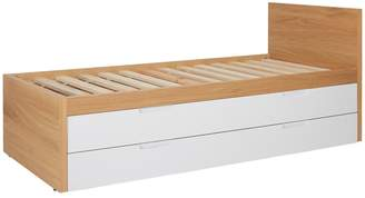 Pod Kids' trundle bed with guest mattress and storage drawer