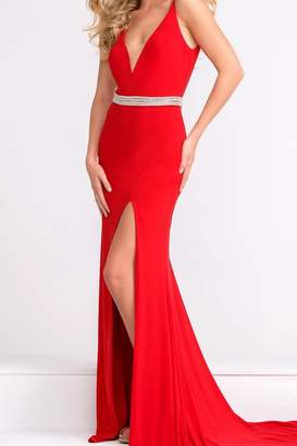 Jovani Beaded Waistline Gown