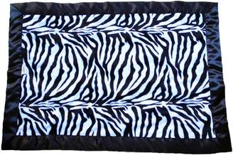 Patricia Ann Designs Stroller Blanket with Black Binding