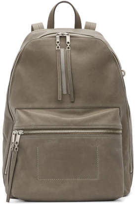 Rick Owens Grey Leather Classic Backpack