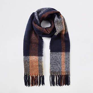 River Island Womens Navy check scarf